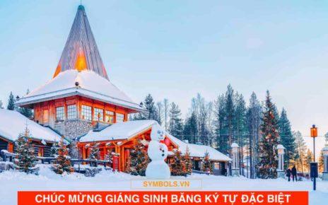 Ký Tự Đặc Biệt Giáng Sinh