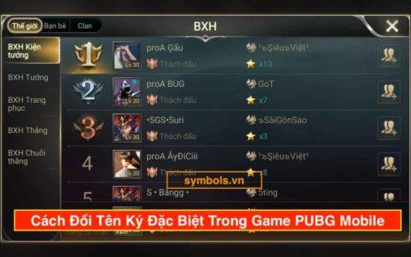 Đổi Tên Ký Đặc Biệt Trong Game PUBG Mobile