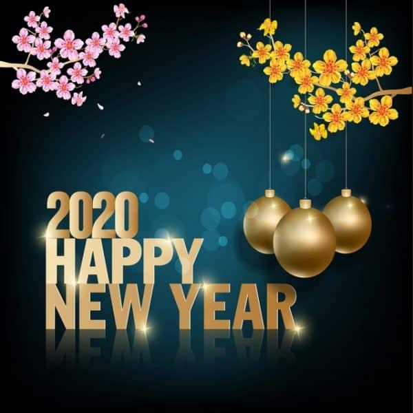Biểu tượng chúc mừng năm mới đẹp