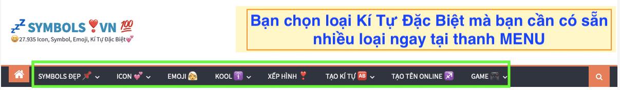 1001 Kí Tự Đặc Biệt Tại Symbols.vn