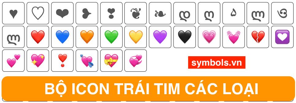 Emoji Trái Tim