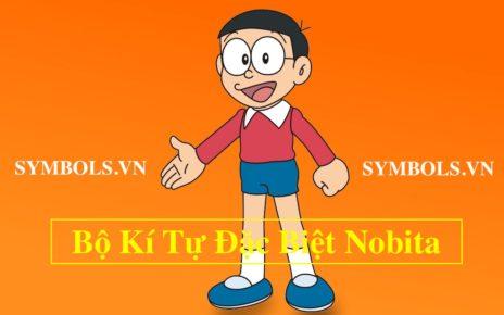 Nobita Kí Tự Đặc Biệt