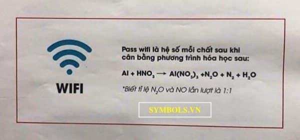 Mật Khẩu Wifi Hoá Học