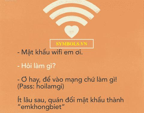 Mật khẩu wifi bá đạo nhất việt nam