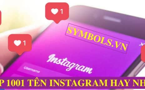 Tên Instagram Hay