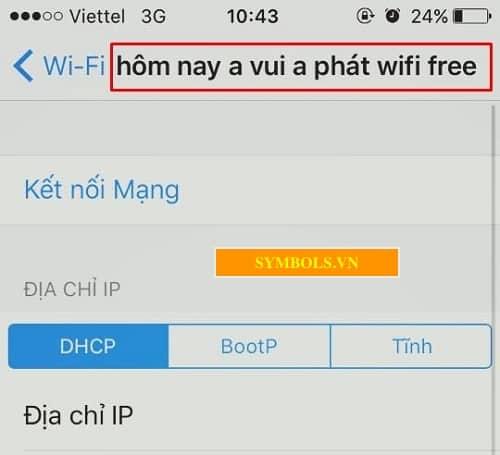 Tên wifi độc lạ