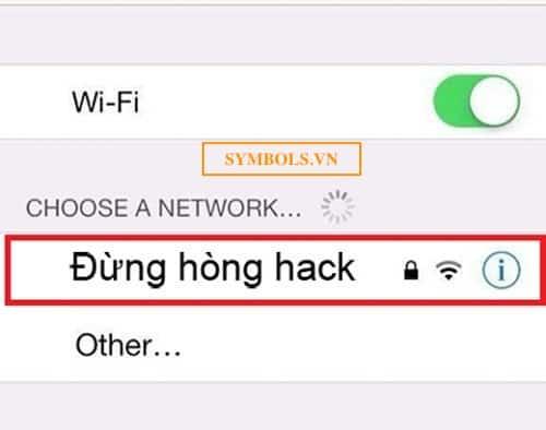 Tên wifi chất