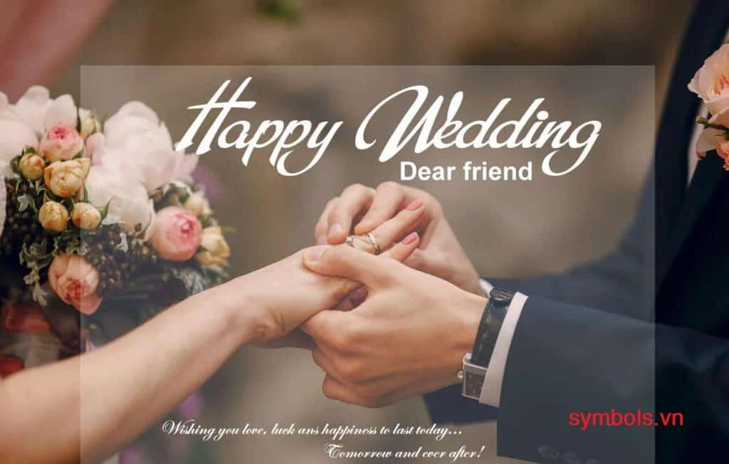 Stt chúc mừng đám cưới gửi tới những người thân yêu