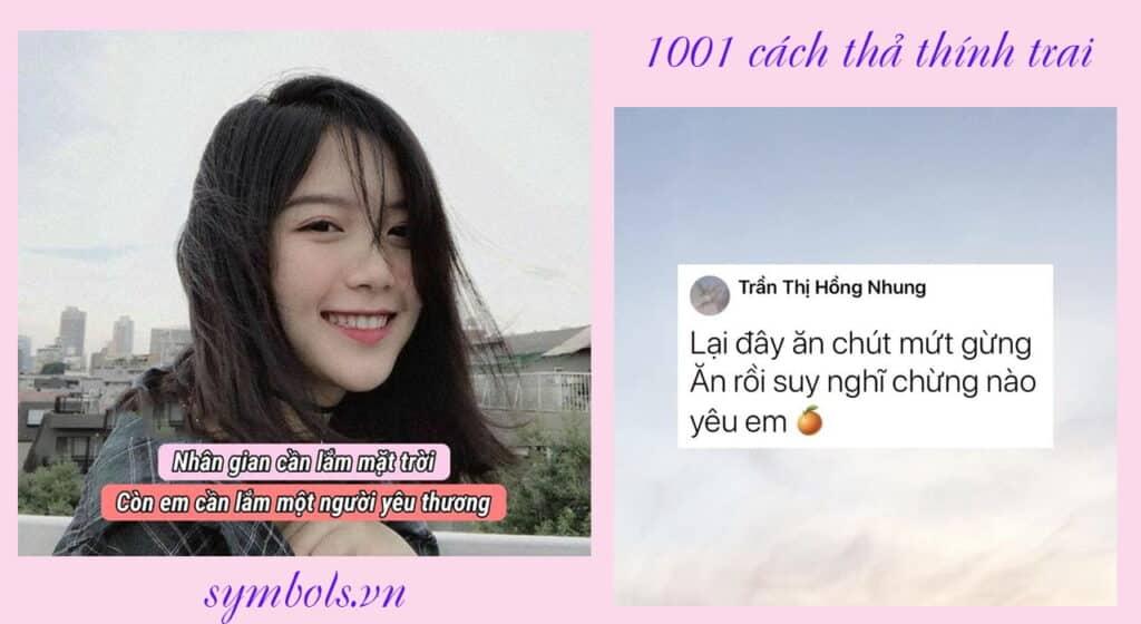 1001 cách thả thính trai
