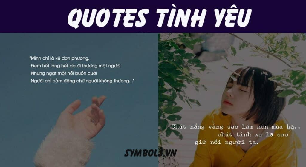 Quotes tình yêu