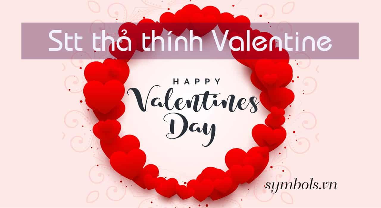 Stt thả thính valentine