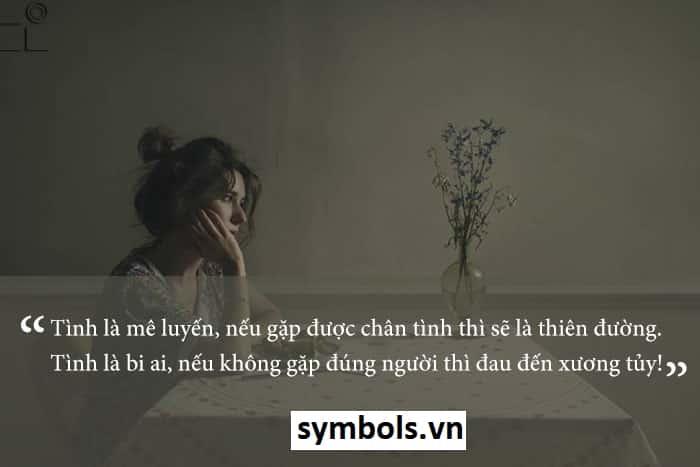 Cap tình yêu hay và buồn