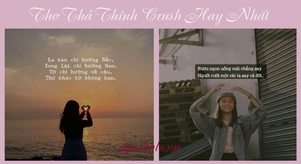 Những câu thơ thả thính crush