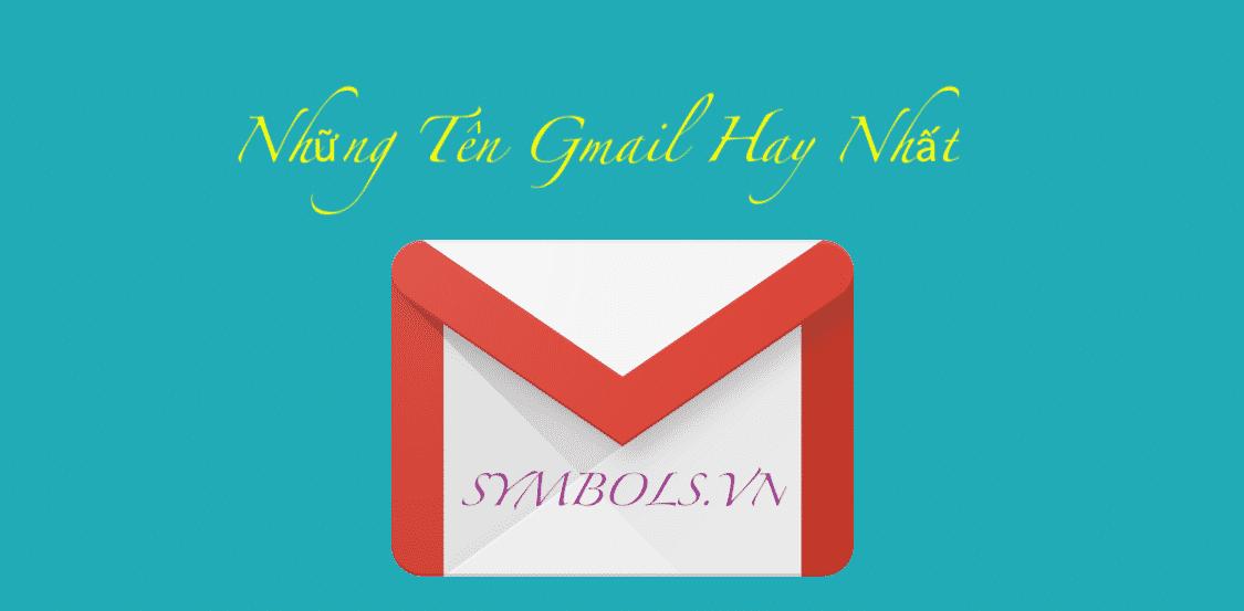 Tên Gmail Hay Nhất