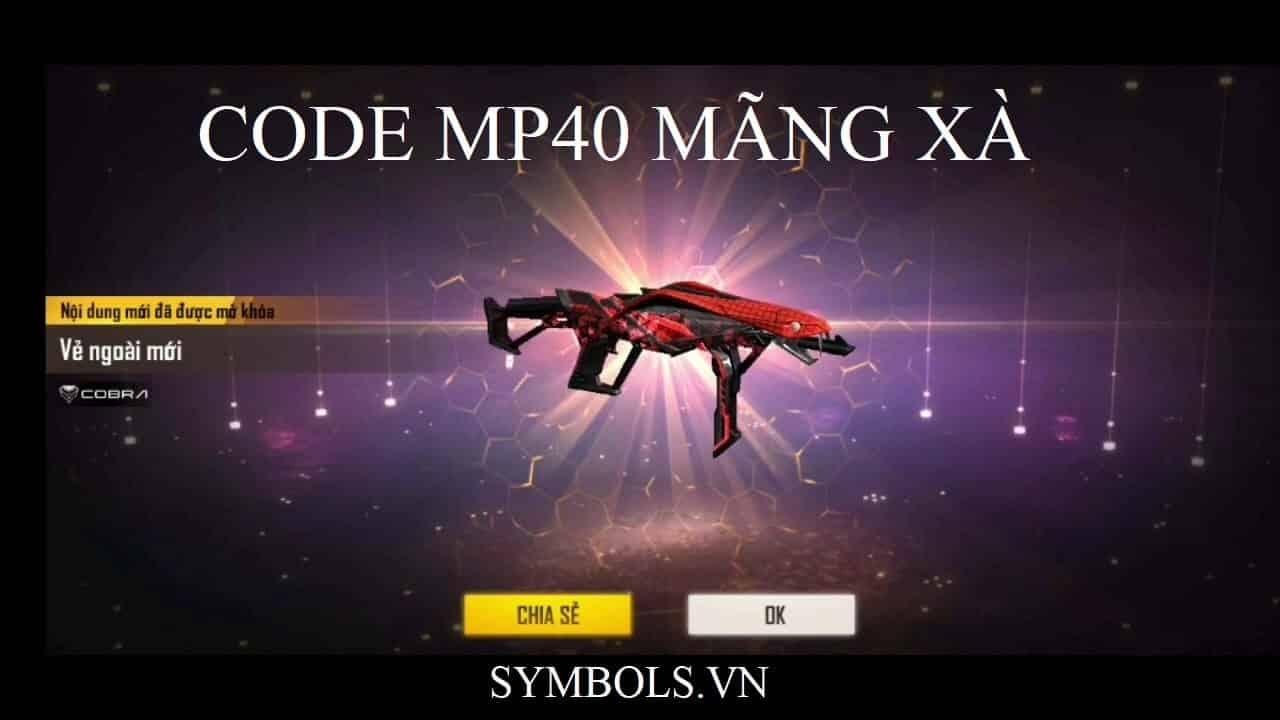 Code Mp40 Mãng Xà