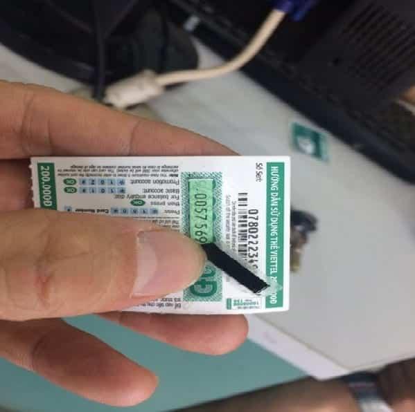 Tặng Bạn Hình Card Viettel 200k