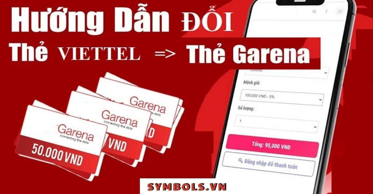 Đổi Thẻ Cào Viettel Sang Garena