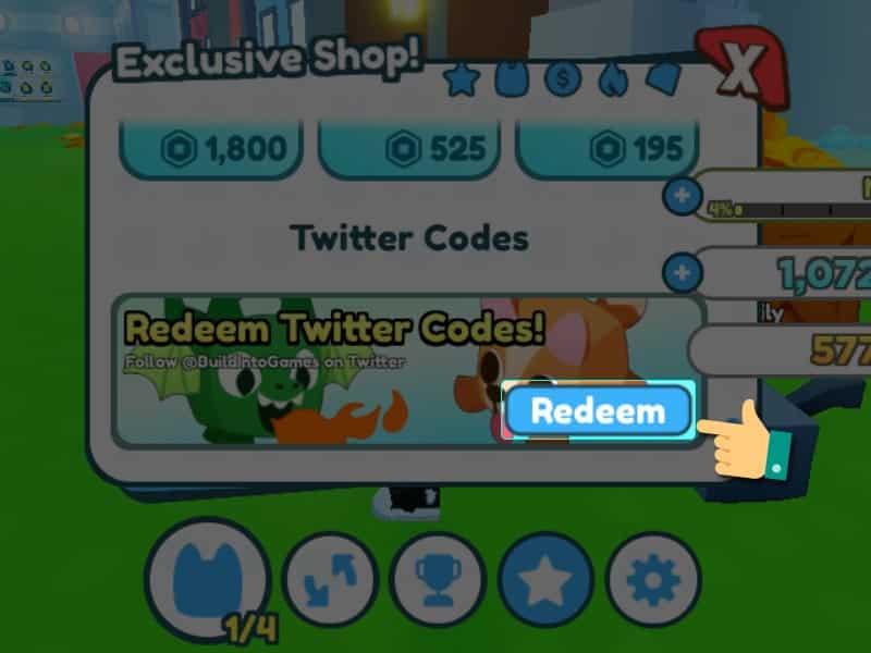 Nhấn chọn Redeem