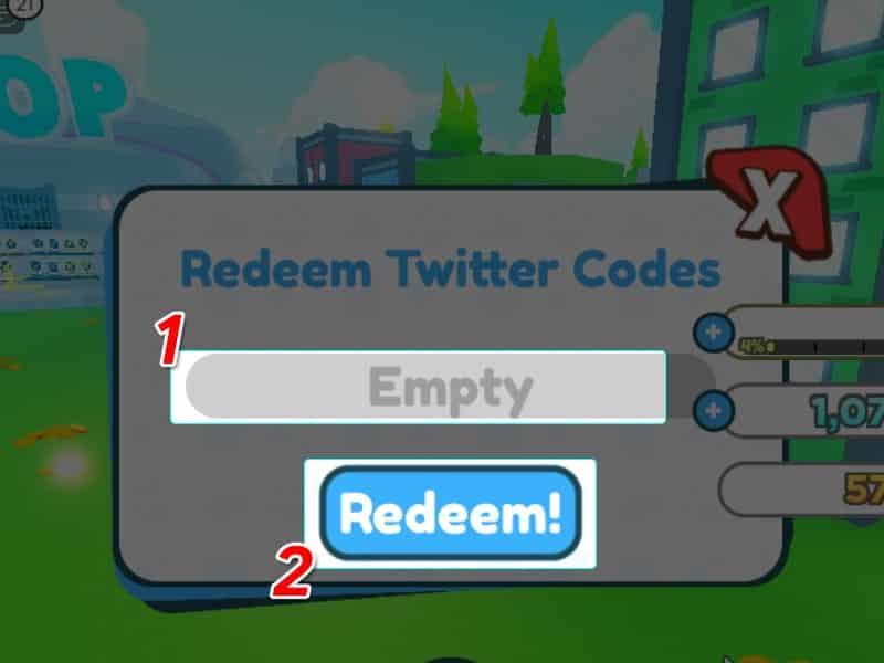 Tiếp tục nhập code và nhấn Redeem